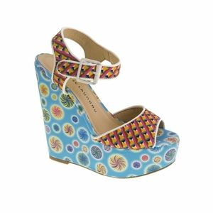 NWOT Chinese Laundry Jollypop Wedge Sandals
